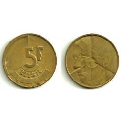 (164) Belgica. 1986. 5 Francs (MBC)
