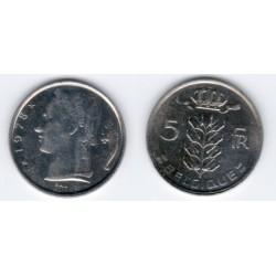 (134.1) Belgica. 1978. 5 Francs (EBC)