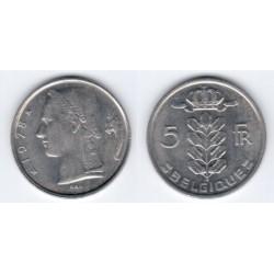 (134.1) Belgica. 1978. 5 Francs (MBC)