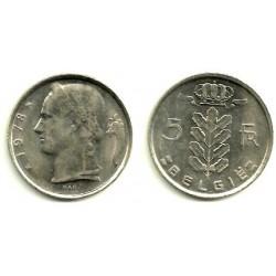 (135.1) Belgica. 1978. 5 Francs (MBC)