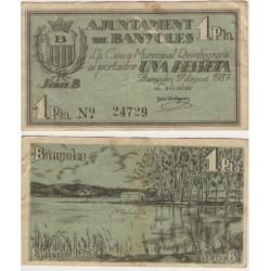 Banyoles [1937] Billete de 1 Peseta (MBC)