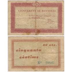 Banyoles [1937] Billete de 50 Céntimos (BC)