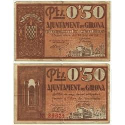 Gerona [1937] Billete de 50 Céntimos (MBC)