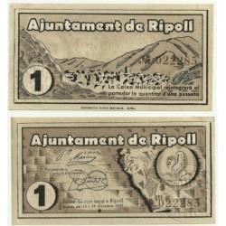 Ripoll [1937] Billete de 1 Peseta (SC)