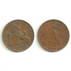 (65) Belgica. 1912. 2 Centimes (MBC)