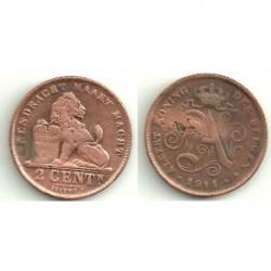 (65) Belgica. 1911. 2 Centimes (MBC)