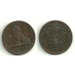 (35.1) Belgica. 1870. 2 Centimes (MBC)