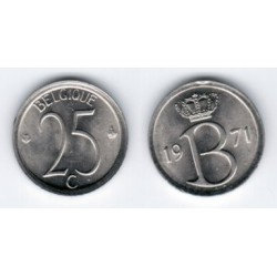 (153.1) Belgica. 1971. 25 Centimes (SC)