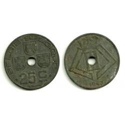 (131) Belgica. 1943. 25 Centimes (MBC)