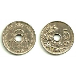 (66) Belgica. 1928. 5 Centimes (EBC)