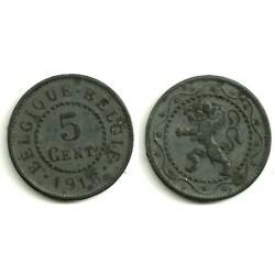(80) Belgica. 1916. 5 Centimes (EBC)