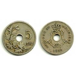 (55) Belgica. 1905. 5 Centimes (MBC)