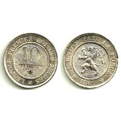(22) Belgica. 1861. 10 Centimes (EBC)