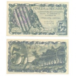 Pineda de Segarra [1937] Billete de 50 Cèntims (EBC)