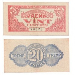 Tremp [1937] Billete de 50 Cèntims (EBC)