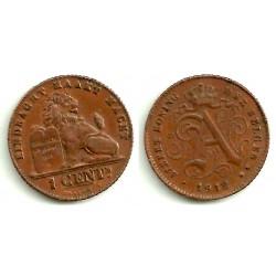 (76) Belgica. 1912. 1 Centime (EBC)