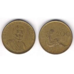 (107) Italia. 1980(R). 200 Lira (MBC-)