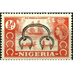 Nigeria. 1953. ½ Pound. Old Manilla Currency