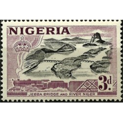 Nigeria. 3 Pound. Jebba Bridge and River Niger