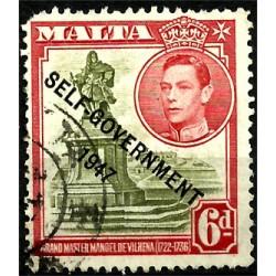 Malta. 1947. 6 Pounds. Autogobierno