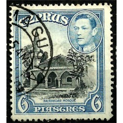 Chipre. 1938. 6 Piastres. Bairakdar Mosque
