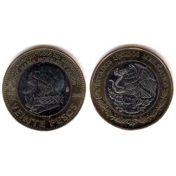 Estados Unidos Mexicanos. 2015. 20 Pesos (SC)