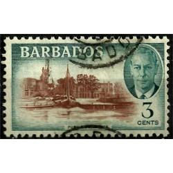 Barbados. 1950. 3 Cents. Public Buildings