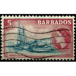 Barbados. 1954. 5 Cents. Harbour Police
