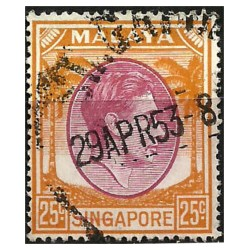 Malaya y Singapur. 1948. 25 Cents. King George VI