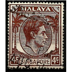 Malaya y Singapur. 1948. 4 Cents. King George VI