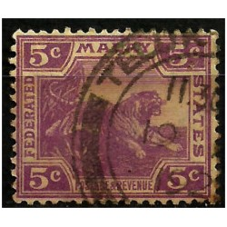 Malaya. 1922. 5 Cents. Tiger