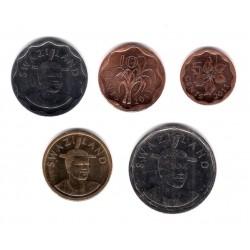 (56 a 60) Suazilandia. 2011. Serie Completa 5, 10, 20, 50 Cents y 1 Lilangeni (SC)