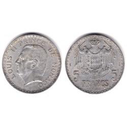 (122) Mónaco. 1945. 5 Francs (MBC)