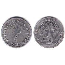 (1965) Congo. 1965. 10 Francs (MBC)