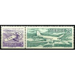 Suecia. 1972. Serie corta. Aviación (Junkers F13, Douglas DC-3)