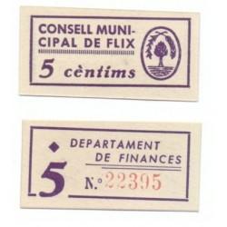 Flix [1937] Billete de 5 Cèntims (SC)
