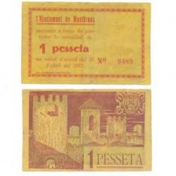 Montblanc [1937] Billete de 1 Peseta (BC)