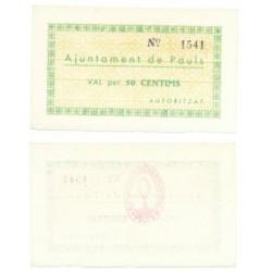 Pauls [1937] Billete de 50 Cèntims (SC)