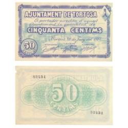 Tortosa [4937] Billete de 50 Cèntims (EBC)