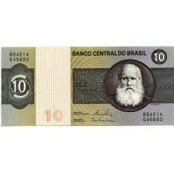 (193e) Brasil. 1970-80. 10 Cruzeiros (SC)