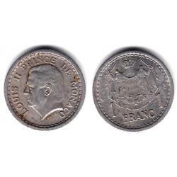 (120) Mónaco. 1943. 1 Franc (MBC+)