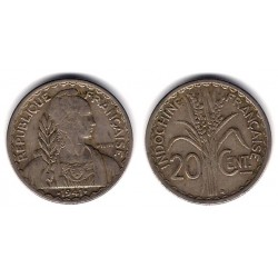 (23a.2) Indochina Francesa. 1941. 20 Centimes (MBC-)