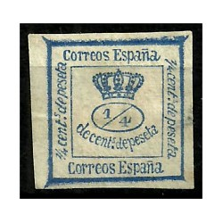 (115) 1872. ¼ Céntimos de Peseta