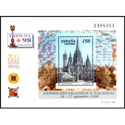 (3557) 1998. 150 Pesetas. Exposición Filatélica Nacional
