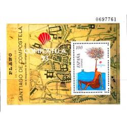 (3258) 1993. 100 Pesetas. Compostela 93