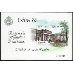 (2814) 1985. 17 Pesetas. Exposición Filatélica Nacional EXFILNA
