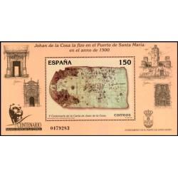 (3722) 2000. 150 Pesetas. Centenario de la Carta de Juan de la Cosa