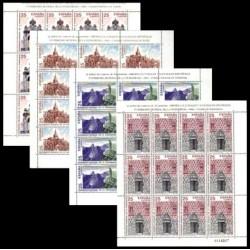 (3146 a 3149,MP35 a MP38) 1991. 25 Pesetas (4x Minipliegos de 12 sellos)