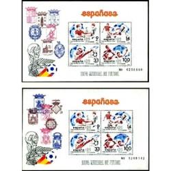 (2664 y 2665) 1982. 2x Hojitas Conm. de 9,14,33 y 100 Pesetas. Mundial 1982 España