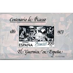 (2631) 1981. 200 Pesetas. El Guernica en España. Centenario de Picasso